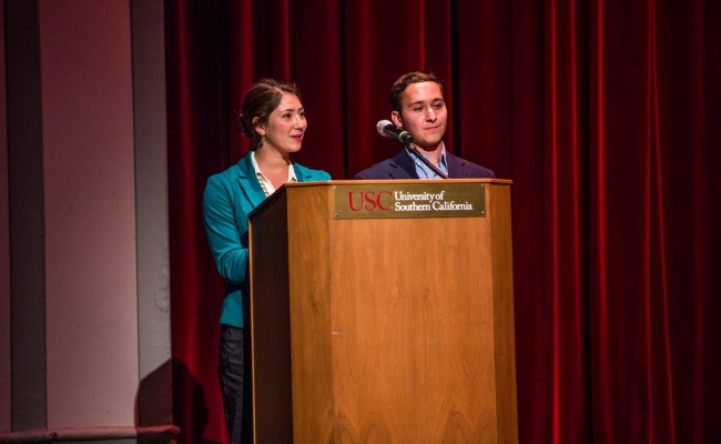 ESA Co-Presidents Rebecca Weber and Joshua Blocketsein