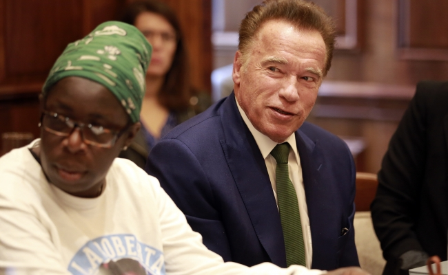 Arnold Schwarzenegger and Rosamund Adoo-Kissi-Debrah discuss the importance of making pollution visible.