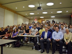Professor Schwarzenegger Teaches Undergraduate Class on Environmental Policy