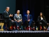 Vice President Al Gore speaks with Senator Fran Pavley, Director of the Luskin Center J.R. DeShazo, and Cofounder of Leadership Council for Justice and Accountability Veronica Garibay