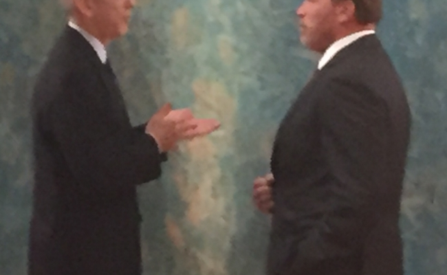 Todd Stern, negotiator on behalf of the US State Department, and Governor Arnold Schwarzenegger