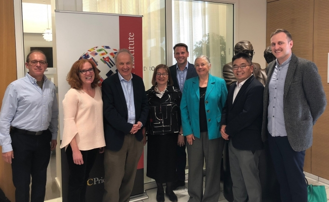 From Left: Mark Bernstein, Eileen Tutt, Nick Jelly, Jane Jelley, Conyers Davis, Fran Pavley, Yufu Cheng, Ross Kenyon