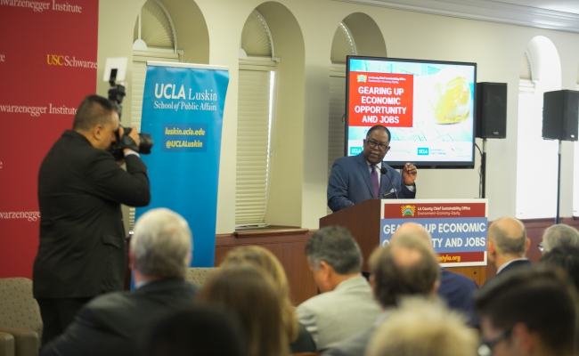 Los Angeles County Supervisor Mark Ridley-Thomas details the county's efforts in supporting a  cleaner economy.