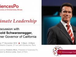 LIVE WEBCAST of Climate Leadership Discussion with Arnold Schwarzenegger In Paris During COP21