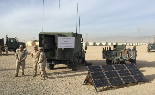 Marine Corps Energy Capability Exercise at Twentynine Palms